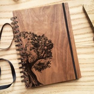 Блокнот з дерев'яною обкладинкою – стильна деталь з безліччю переваг!