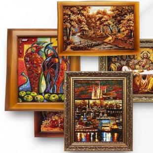 Картини і портрети з бурштину – оригінальне доповнення Вашого інтер'єру!
