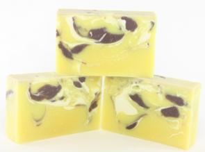 Making handmade soap.
