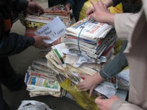 Забираем бумажные отходы из домов и квартир в Киеве