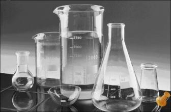 Стеклянная лабораторная посуда в широком ассортименте