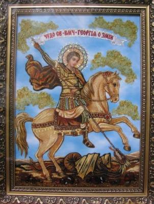 Иконы из янтаря. Купить в Киеве