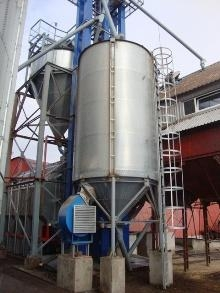 There are silos for grain on sale