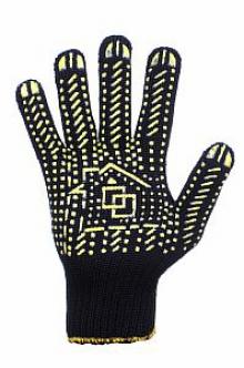 Разноцветные перчатки хб с пвх по низким ценам предлагает