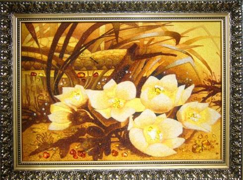 Пропонуємо купити картини із бурштинової крихти
