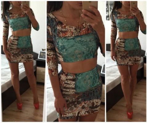 Летние юбки с красочными топами – взрывная летняя парочка
