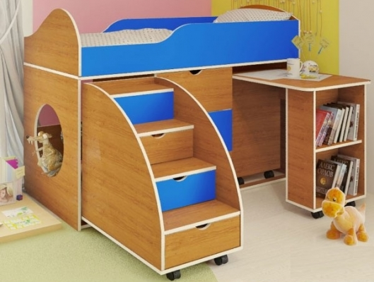 Цена кровати-чердак со столом снижена на 5%