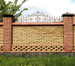 Строим кирпичный забор по оптимальной цене