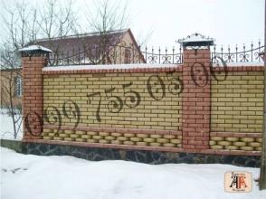 Паркан з цегли у Львові, Луцьку