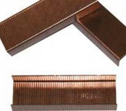 Скоби для степлера (сталь обміднена)