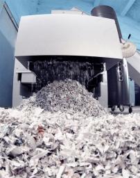 Уничтожение архивных документов промышленным шредером