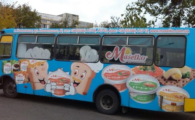 Реклама в громадському транспорті, Луцьк