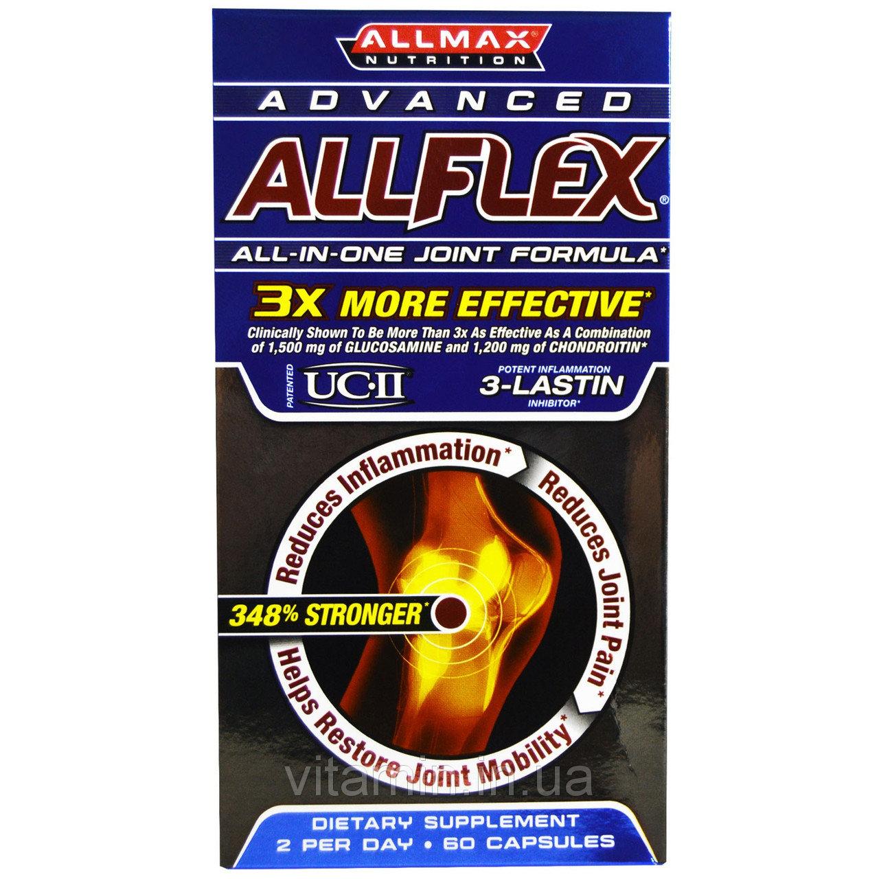 Витамины для суставов - ALLMAX Nutrition, Advanced AllFlex, All-In-One Joint Formula, 60 Capsules