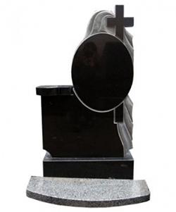 Постамент черный гранит габбро