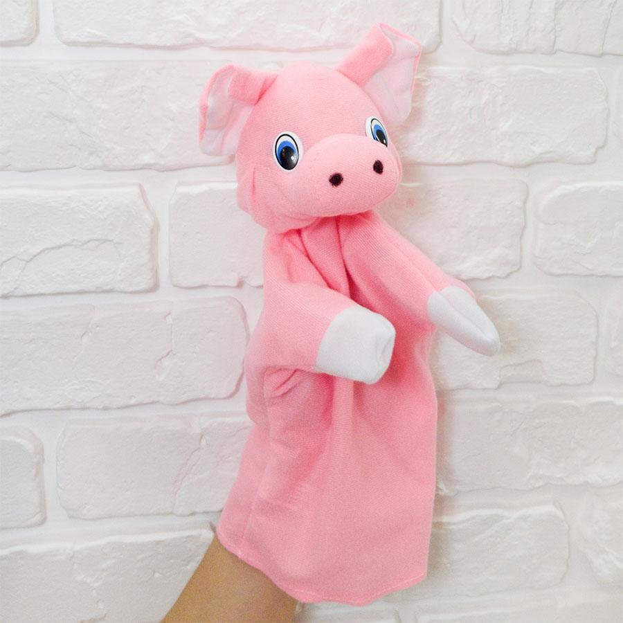 Іграшка-рукавиця «Порося» для лялькового театру, замовити в Інтернеті