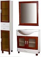 Купить мебель для ванной из дерева серия
