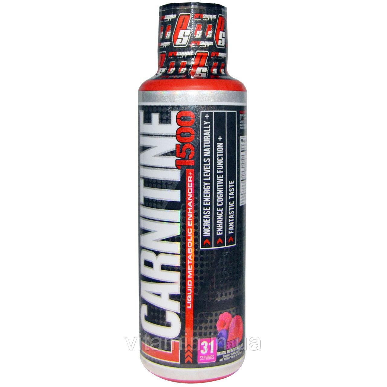 У продажу Л-карнітин, ціна на ProSupps, L-Carnitine 1500, Berry (473 ml) - 433.00 грн