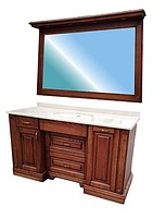 Купить мебель для ванной из дерева серии