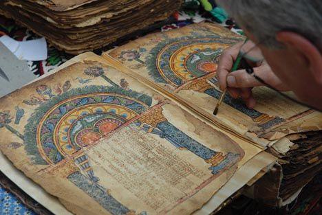 Верните поврежденной книге первоначальный вид в мастерской