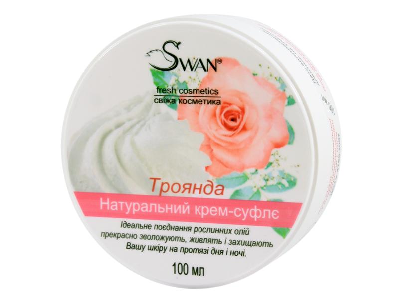 Натуральная косметика для рук ТМ Swan - крем-суфле с ароматом розы