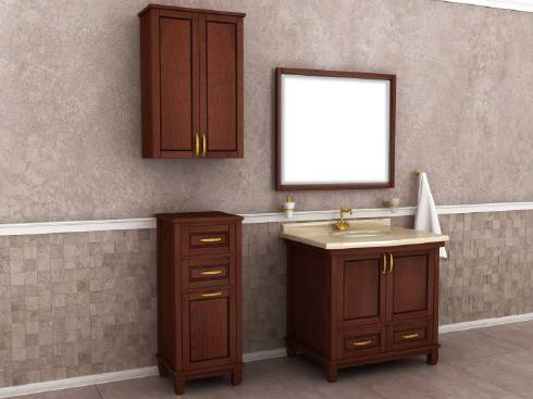 Купить мебель для ванной из массива