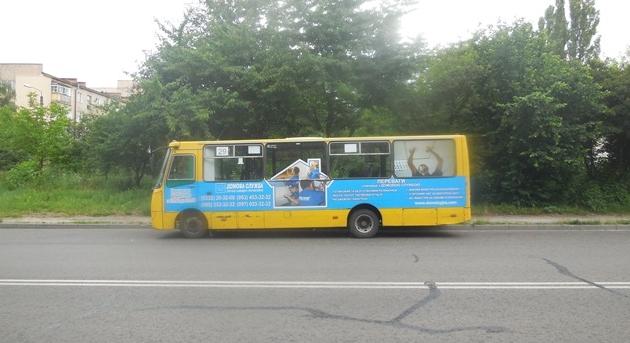Зовнішня реклама №1 - реклама на міських маршрутках у Луцьку