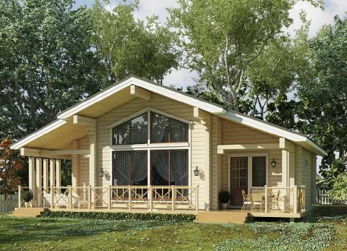 Будівництво дерев'яних будинків з клеєного брусу «під ключ»