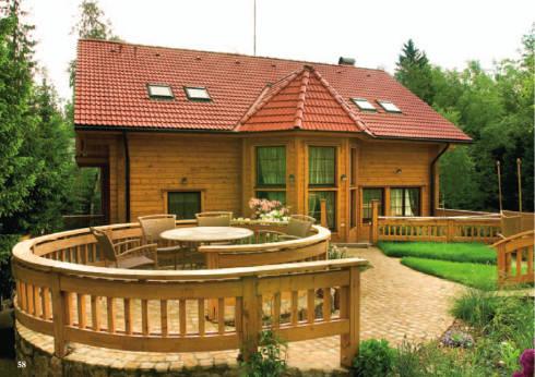 Дома из оцилиндрованного бревна, заказать в Украине