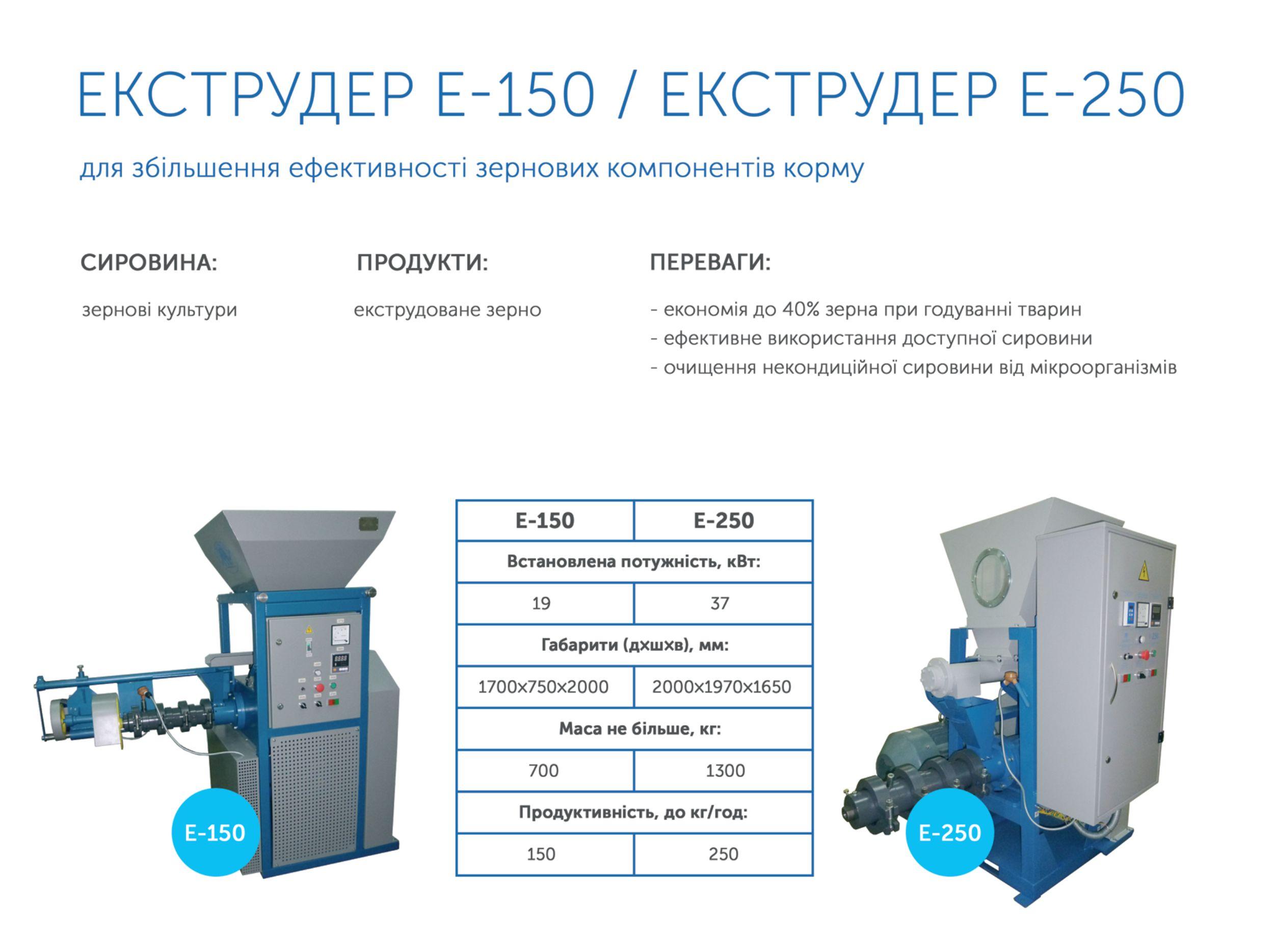 Продаємо екструдер Е-150