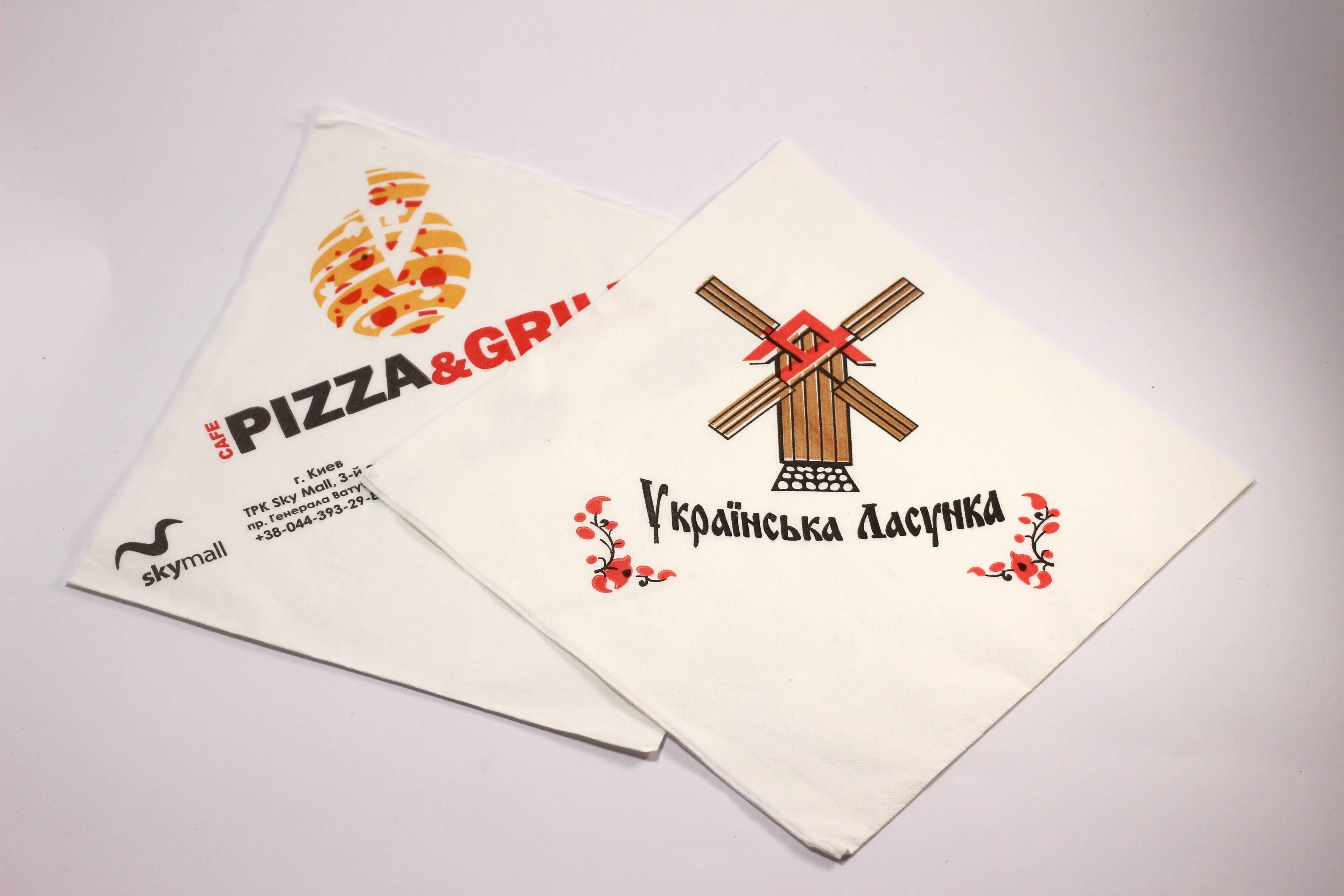 Купитипаперові серветки з логотипомоптом Україна