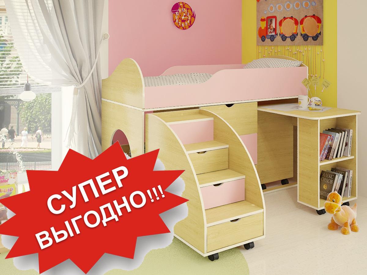 20 % Скидка на детскую кровать со столом