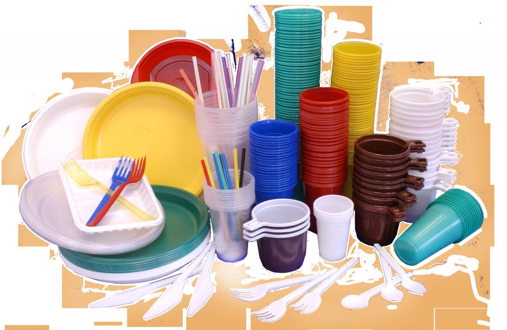 Одноразовий пластиковий посуд купити в Одесі