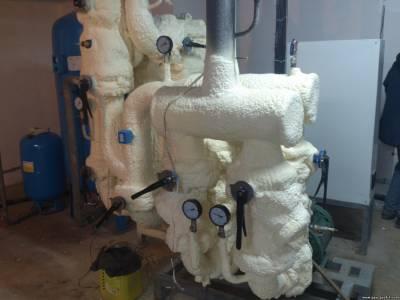 Теплоізоляція напиленням пінополіуретану для трубопроводів недорого Україна