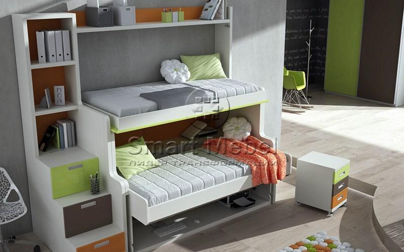 Двухъярусная кровать со столом: практично и компактно