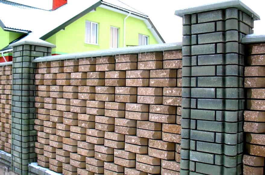 Будуємо паркани з цегли, ціна включає доставку