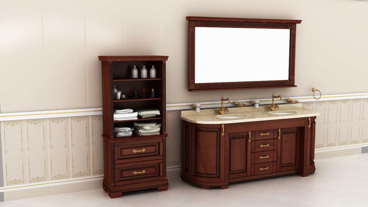 Мебель для ванных комнат с резьбой заказать у мастеров