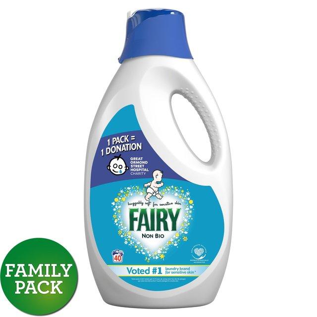 Якісний німецький гель для прання, гіпоалергенний, без фосфатів Fairy Non Bio