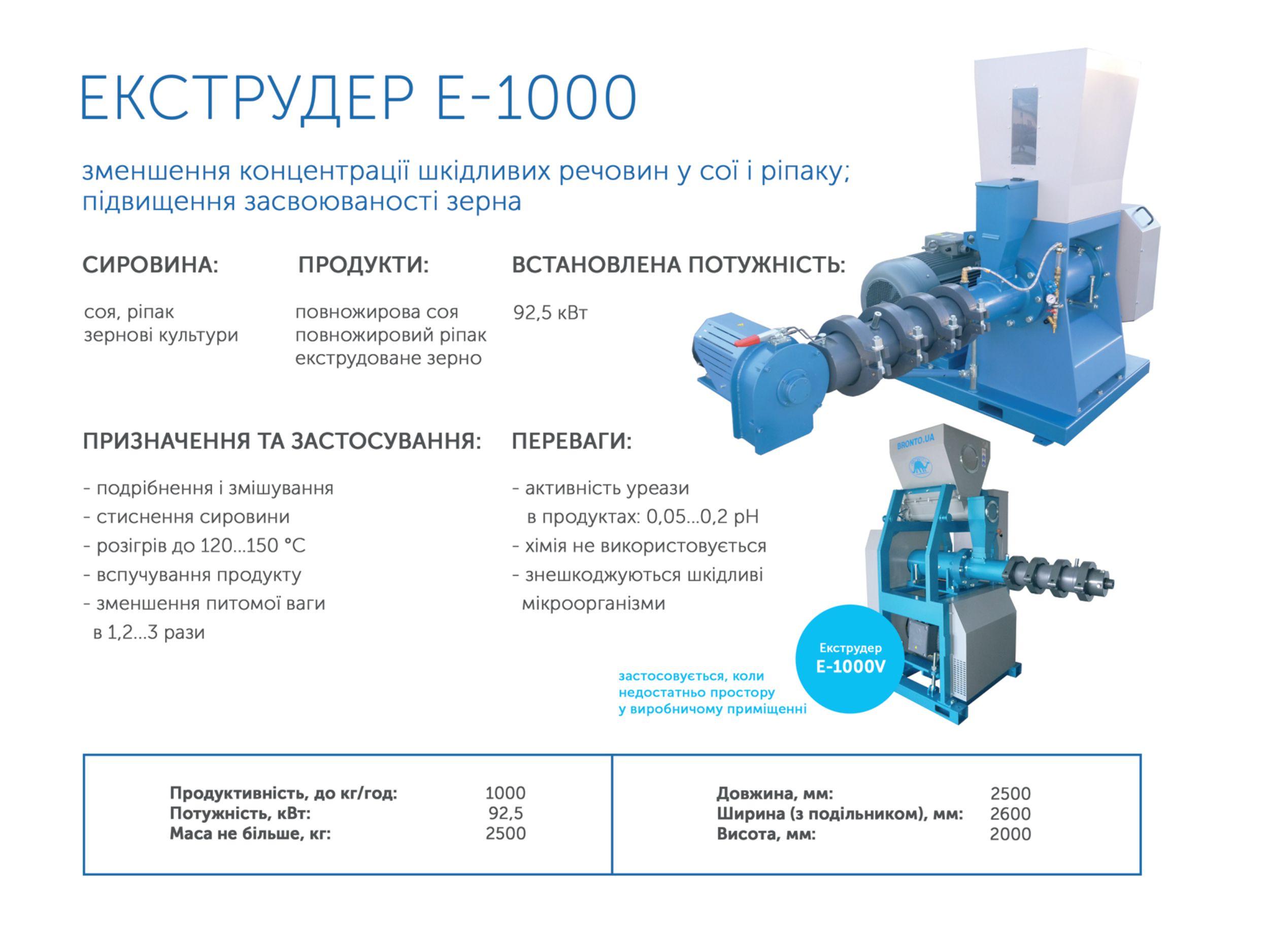 У продажі кормовий екструдер Україна