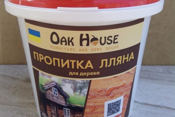 Лляна олія з бджолиним воском - ефективний засіб захисту дерева