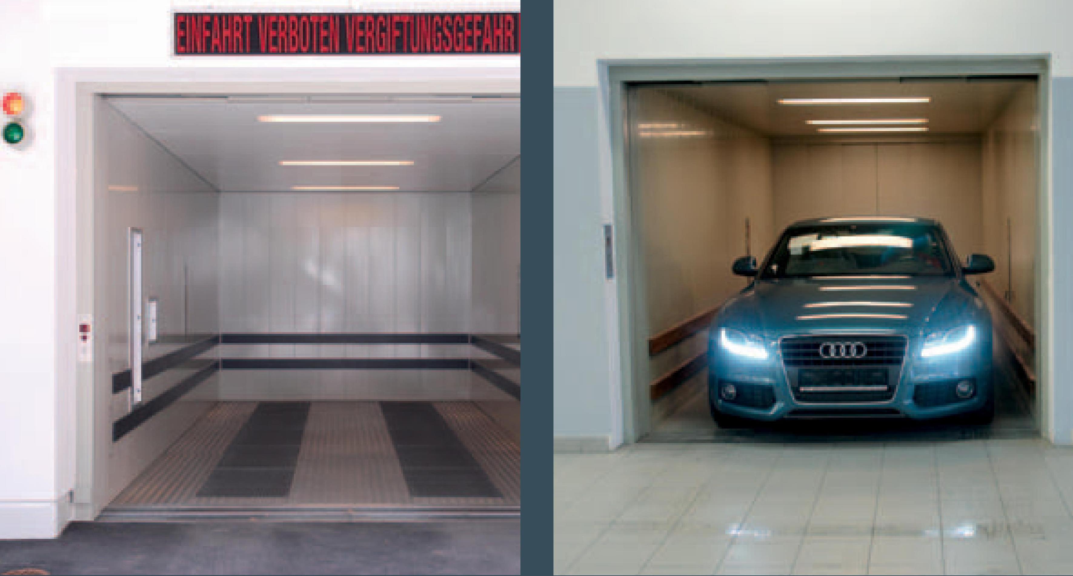 Автомобільні та вантажні ліфти, ліфтове обладнання