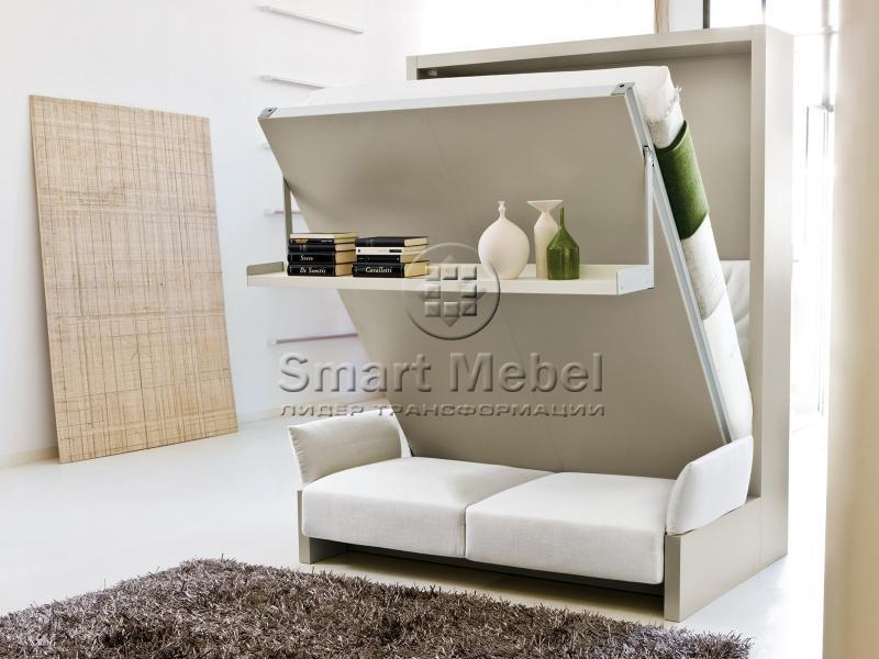 Шкаф кровать для маленькой спальни по доступной цене