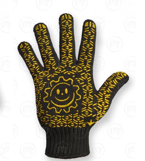 Продаються чорні рукавички з точковим покриттям