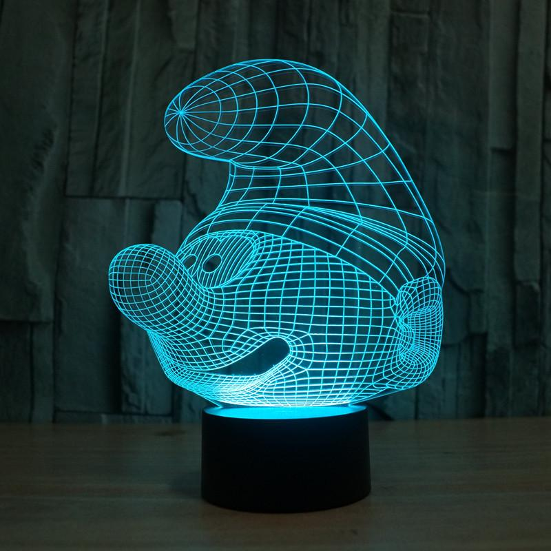 Купити світильник в інтернет магазині з Смурфиком