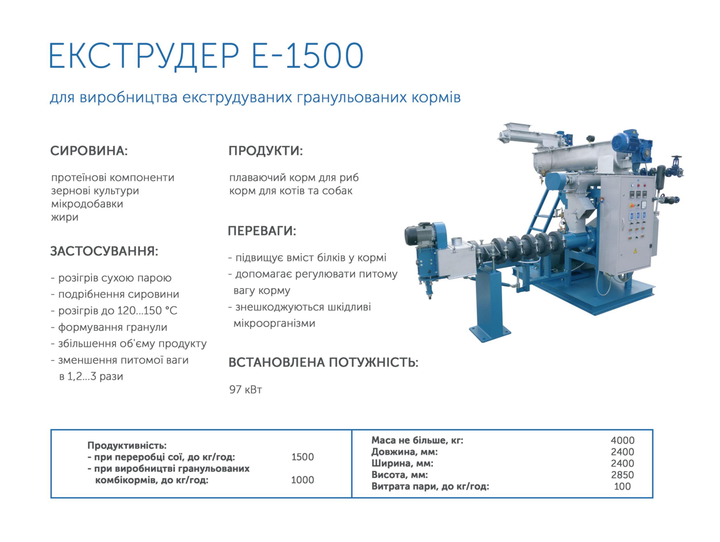 Экструдер Е-1500 Bronto купить в Украине