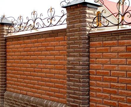 Цегляний паркан - замовити в «А-Квадрат»