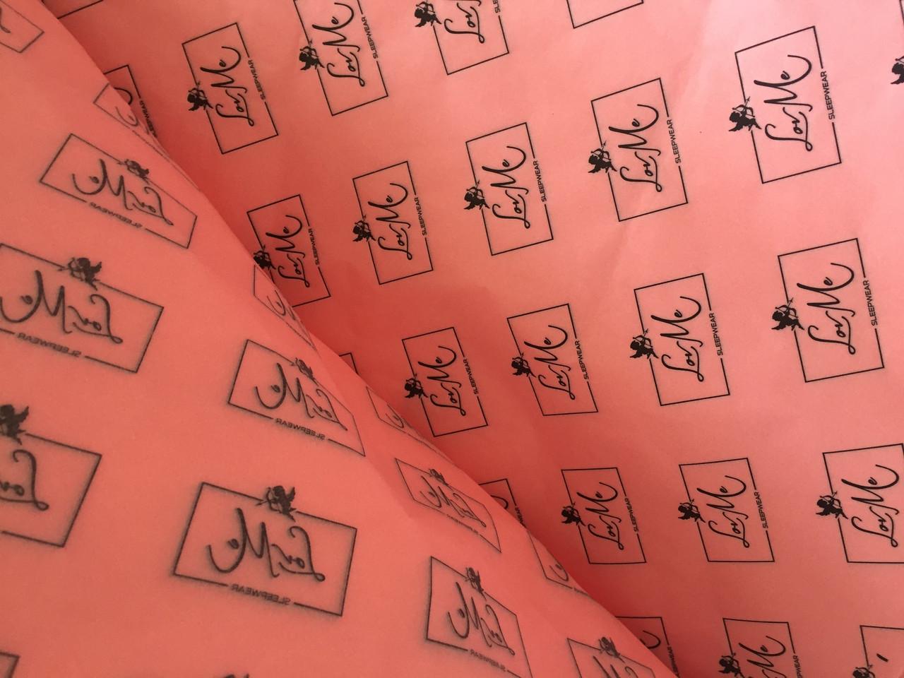Бумага тишью с логотипом купить в Киеве