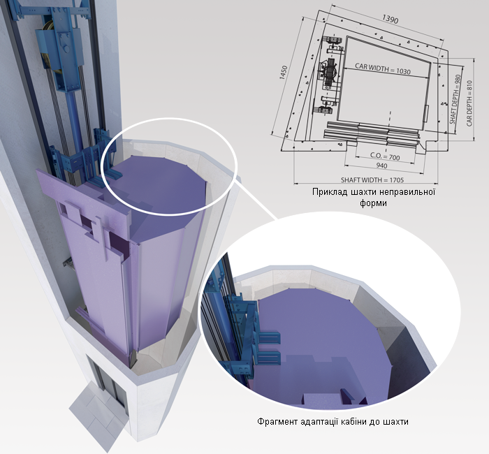 Ліфт ціна гідравлічний EFR дешево