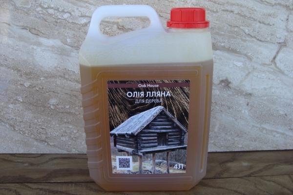 Лляна олія для просочення дерева будь-яких порід