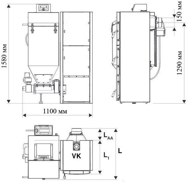 Котел чавунний твердопаливний Bosch