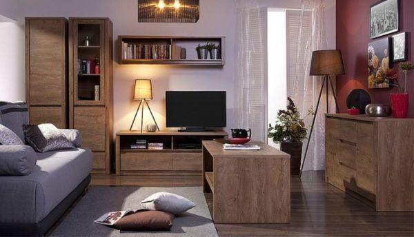 Якісні меблі для вітальні - модульна стінка Монті